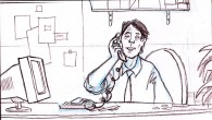 storyboards for the FEDEX TV commercial